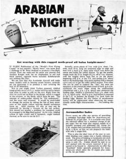 Arabian Knight model airplane plan