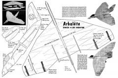 Arbalete glider model airplane plan