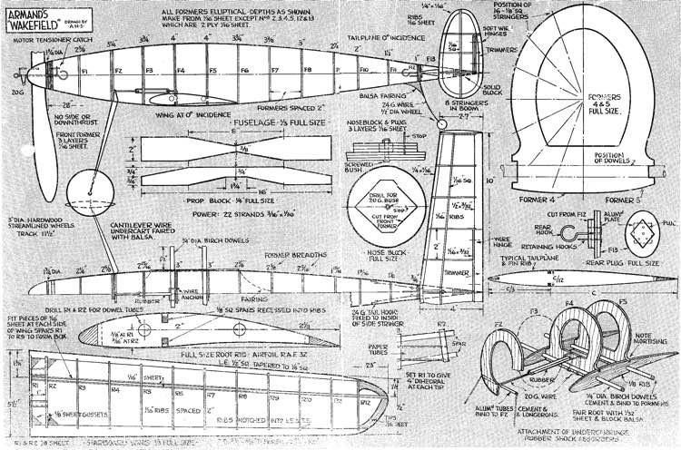 Armand Wakefield. model airplane plan