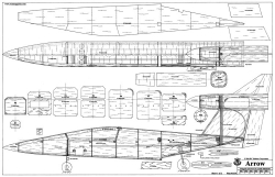 Arrow RCM 44in model airplane plan