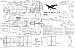 Arrow Sport Megow 30in model airplane plan