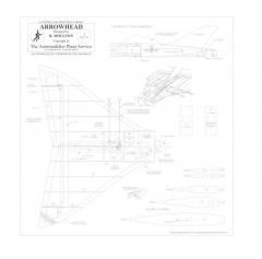 Arrowhead BW Print model airplane plan