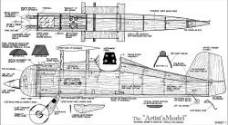 Artists Model model airplane plan