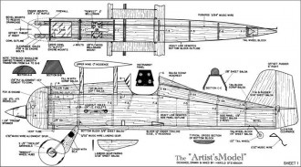Artists Model model airplane plan