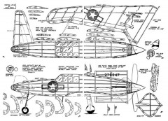 XP-55 Ascender model airplane plan
