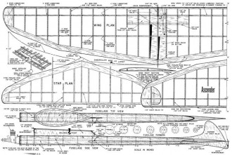 Ascender model airplane plan