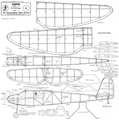 Aspis model airplane plan