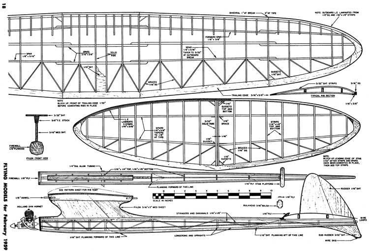 Asteroid 320 model airplane plan