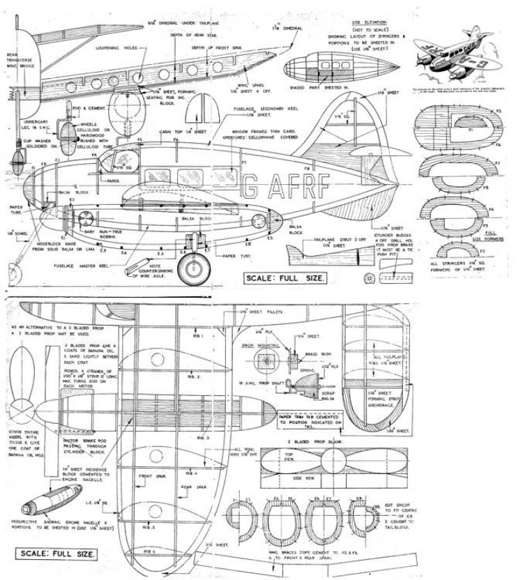 Athene model airplane plan