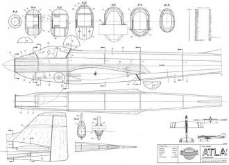 Atlas 60 model airplane plan