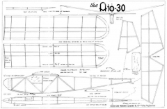 Ato-30 model airplane plan