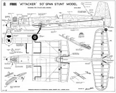 Attacker Frog CL model airplane plan