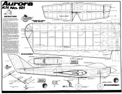 Aurora model airplane plan