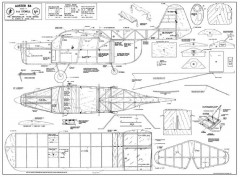 Auster B.4 model airplane plan