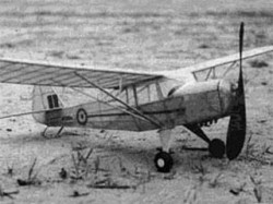 Auster J-5 Autocrat model airplane plan