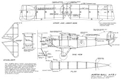 Austin Ball AFB1 model airplane plan