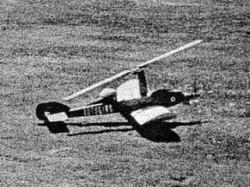Autogiro model airplane plan