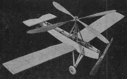 Autogyro model airplane plan