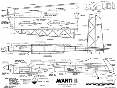 Avanti II model airplane plan