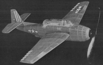 Avenger TBM-3 model airplane plan