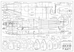 Avia B-135 39in model airplane plan