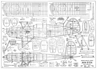 Avia B-534 2 model airplane plan