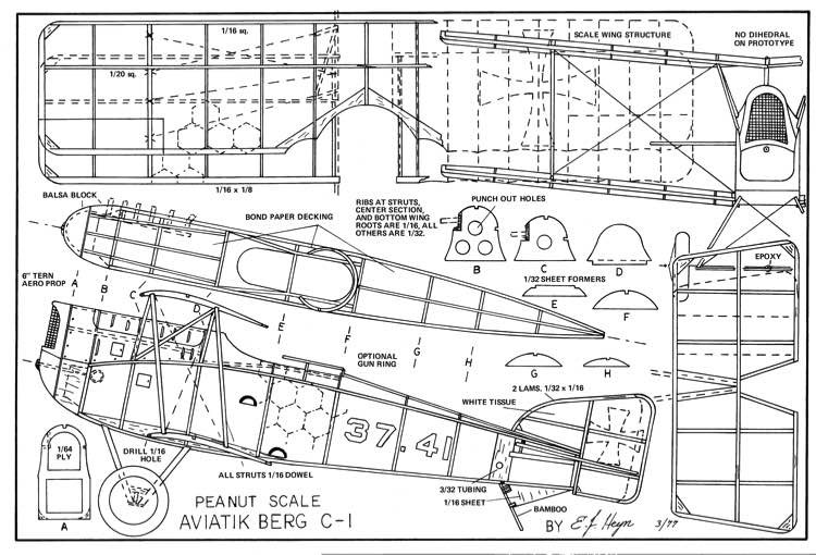 Aviatik Berg C-1 model airplane plan