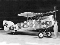 Aviatik Berg C-1 model airplane plan