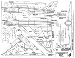 Avro 698 Vulcan model airplane plan