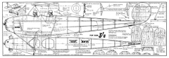 Avro Avis 30in model airplane plan