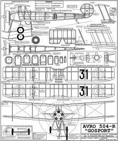 Avro Gosport model airplane plan
