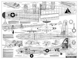 Berkeley Models B-17G model airplane plan