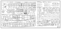 B-24-Liberator model airplane plan