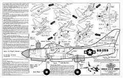 B-66 Destroyer model airplane plan