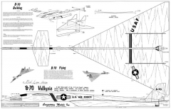 B-70 Valkyrie model airplane plan