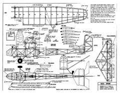 B.A.C . Drone model airplane plan
