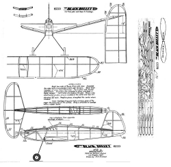 BBullet model airplane plan