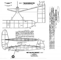 BBullet model airplane plan