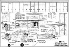 BD-4-RC Sportsman 11-75 model airplane plan