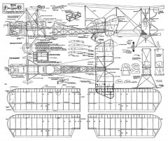 B.E.12b model airplane plan