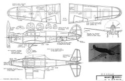 BE Eagle 15in model airplane plan