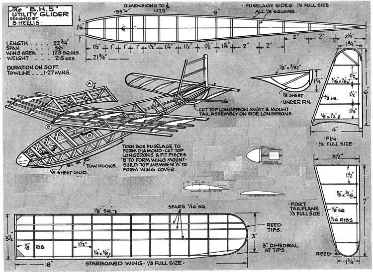 B.H.5 model airplane plan