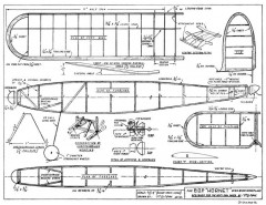 BOP Hornet 22in model airplane plan