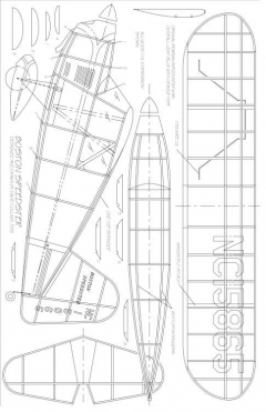 BOSTON SPEEDSTER model airplane plan