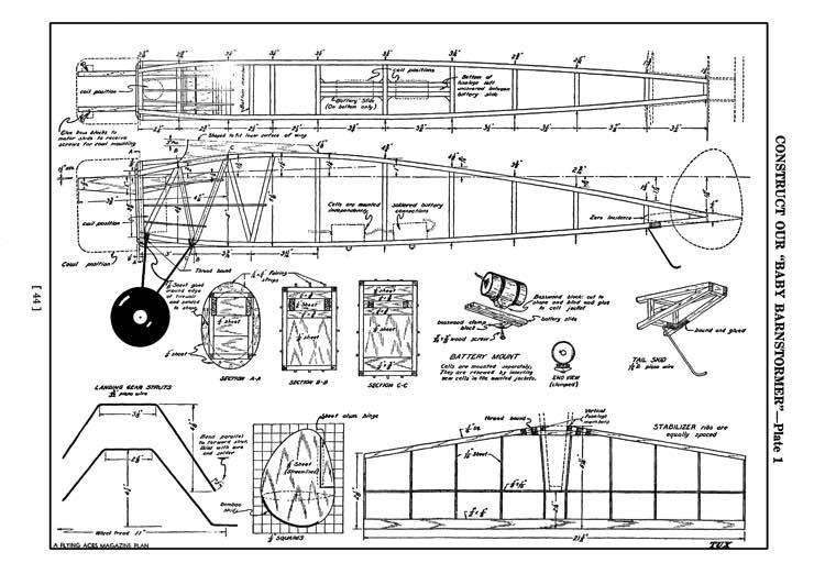 BabyBarnstormer model airplane plan