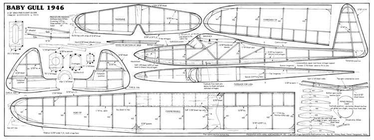 BabyGull35 model airplane plan