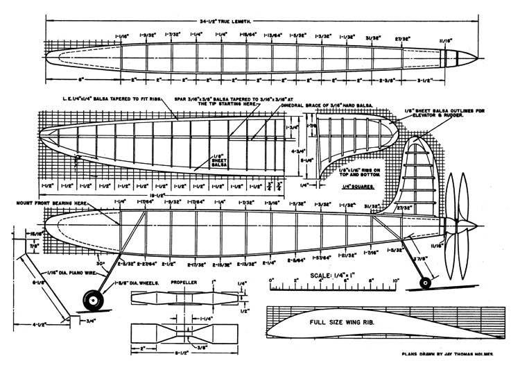 Baby Mixmaster model airplane plan