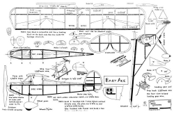 Baby Ace peanut model airplane plan