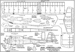 Baby Bombshell-FM-02-92 model airplane plan