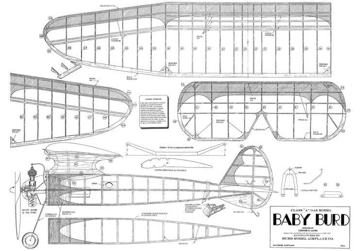Baby Burd model airplane plan